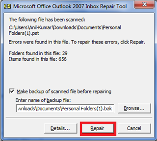 Download Scanpst exe(Inbox Repair Tool) for Outlook 2016